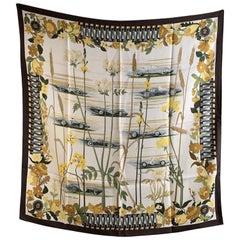 Hermes Vintage Silk Scarf Les Bolides 1967 Rena Dumas