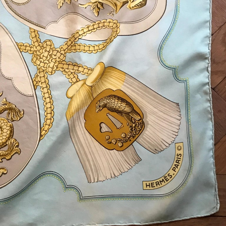 An opportunity to own a rare vintage Hermes scarf pattern