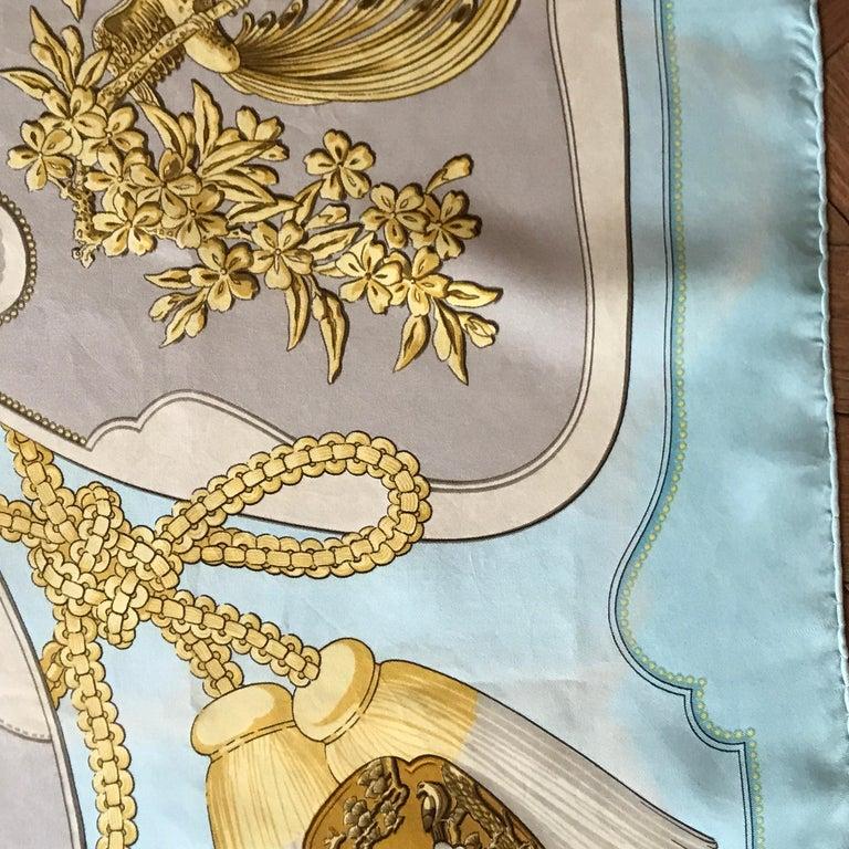 Women's or Men's Hermes Vintage Silk Scarf