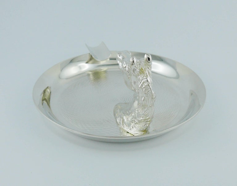 Hermes Vintage Silver Plated Horse Head Equestrian Ashtray In Excellent Condition For Sale In Nice, FR
