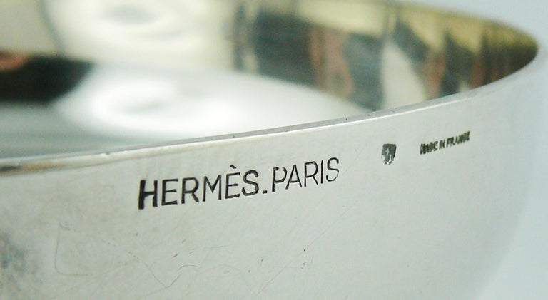 Hermes Vintage Silver Plated Horse Head Pin Tray For Sale 7