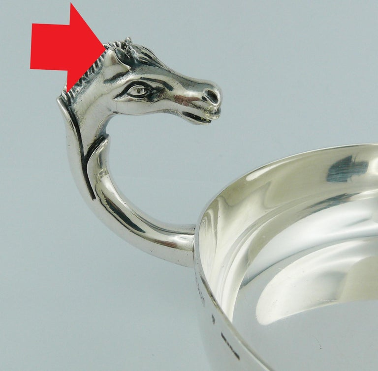 Hermes Vintage Silver Plated Horse Head Pin Tray For Sale 8