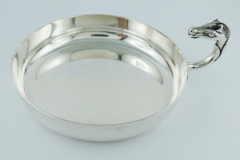 Hermes Vintage Silver Plated Horse Head Pin Tray In Good Condition For Sale In Nice, FR
