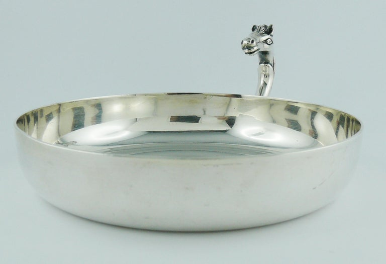 Hermes Vintage Silver Plated Horse Head Pin Tray For Sale 2