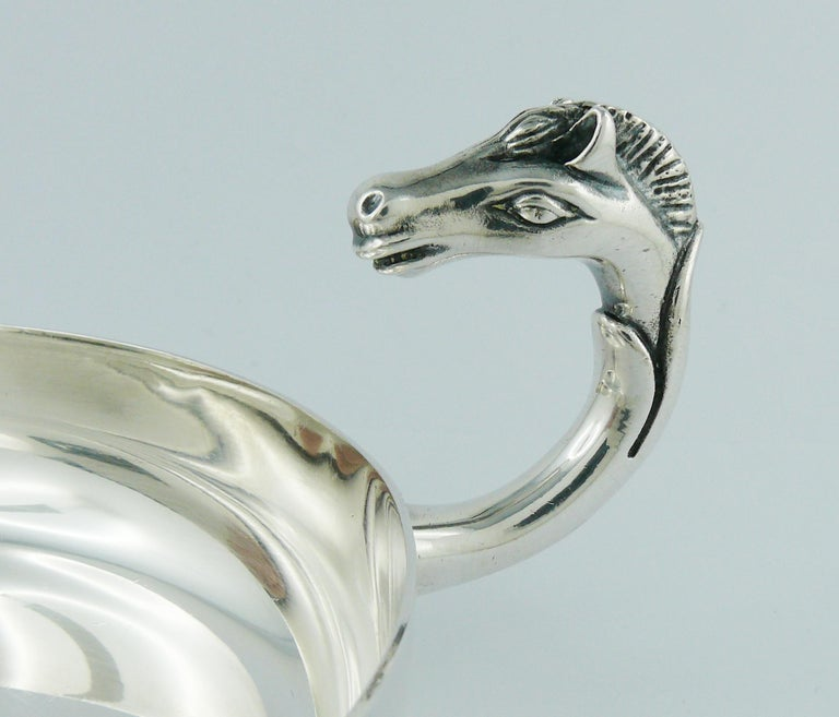 Hermes Vintage Silver Plated Horse Head Pin Tray For Sale 5