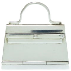 Hermes Vintage Sterling Silver Novelty Decorative Object Box Kelly Bag