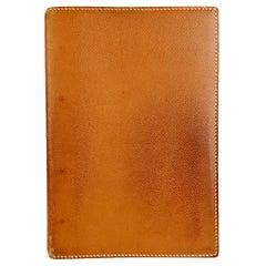 Hermes Vintage Tan Leather 4 Ring Address Book Agenda