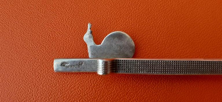 Hermès Vintage Tie Clip in Silver Snail Pattern Rare 1