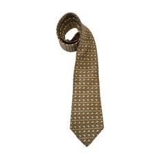 HERMES Vintage Tie in Printed Silk