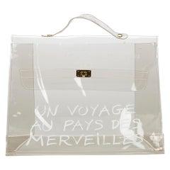 Hermes Vinyl Kelly Handbag
