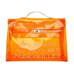 Hermes Vinyl Orange Kelly Beach Bag