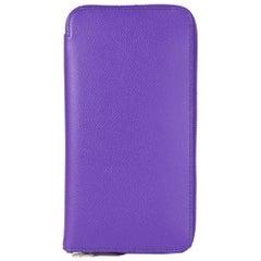 HERMES Violet purple Epsom leather AZAP CLASSIC Wallet