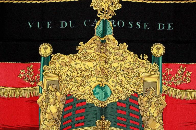 Women's Hermes Vue du Carrosse de la Galere Ship Silk Scarf For Sale