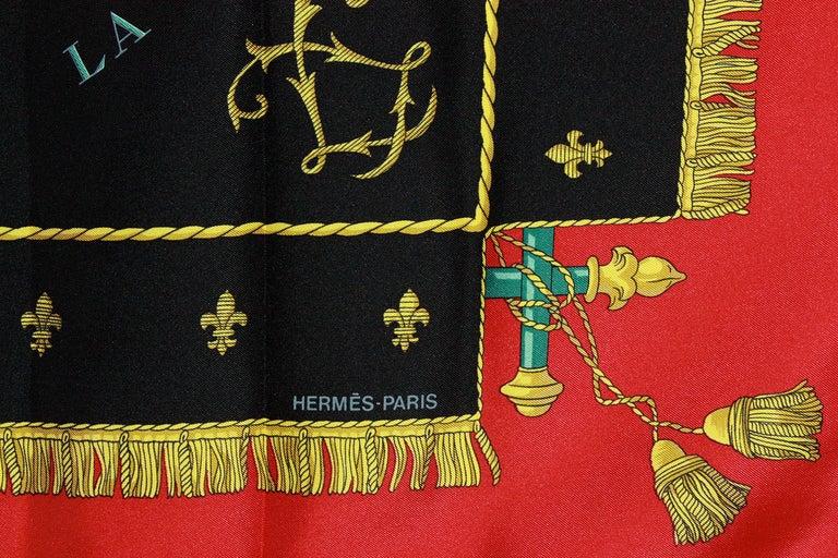 Hermes Vue du Carrosse de la Galere Ship Silk Scarf For Sale 2