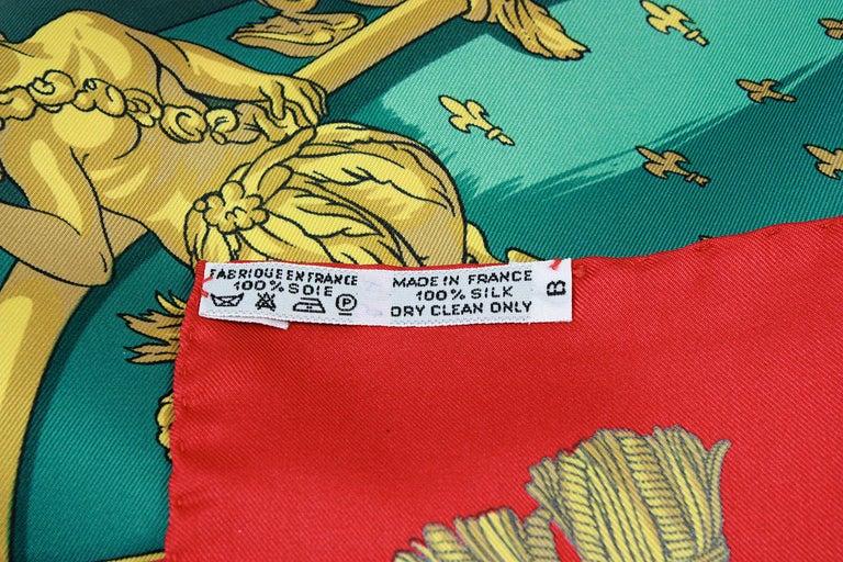 Hermes Vue du Carrosse de la Galere Ship Silk Scarf For Sale 3