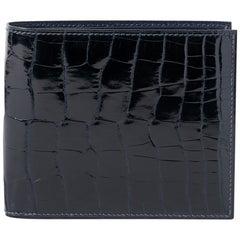 Hermes Wallet Portefeuille MC2 Copernic Blue Indigo Alligator New w/ Box