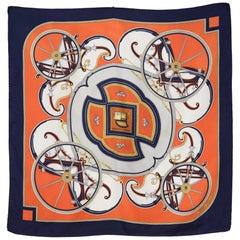 Hermes Washington Carriage Silk Scarf