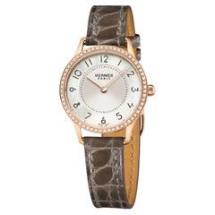 Hermès Watch 18k Rose Gold Slim D'Hermes CA2.271.212/ZZ8C