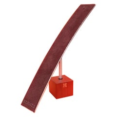 Hermès Watch or Jewelry Display Stand Holder in Felt and Wood