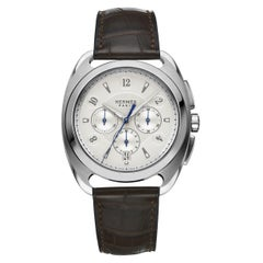 Hermès Watch Stainless Steel Dressage Chronograph DR5.910.220/MHA