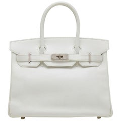Hermes White 30cm Birkin Bag