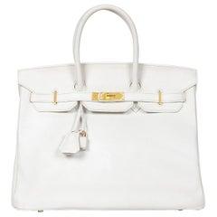 Hermès White Birkin White 35cm Epsom