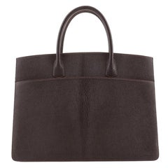 Hermes White Bus Bag Leather 39