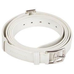 HERMES white Clemence leather ETRIVIERE 26mm Double Wrap Belt 90