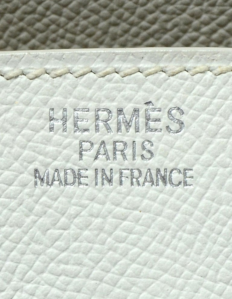 Hermes White Epsom 35cm Birkin Bag For Sale 5