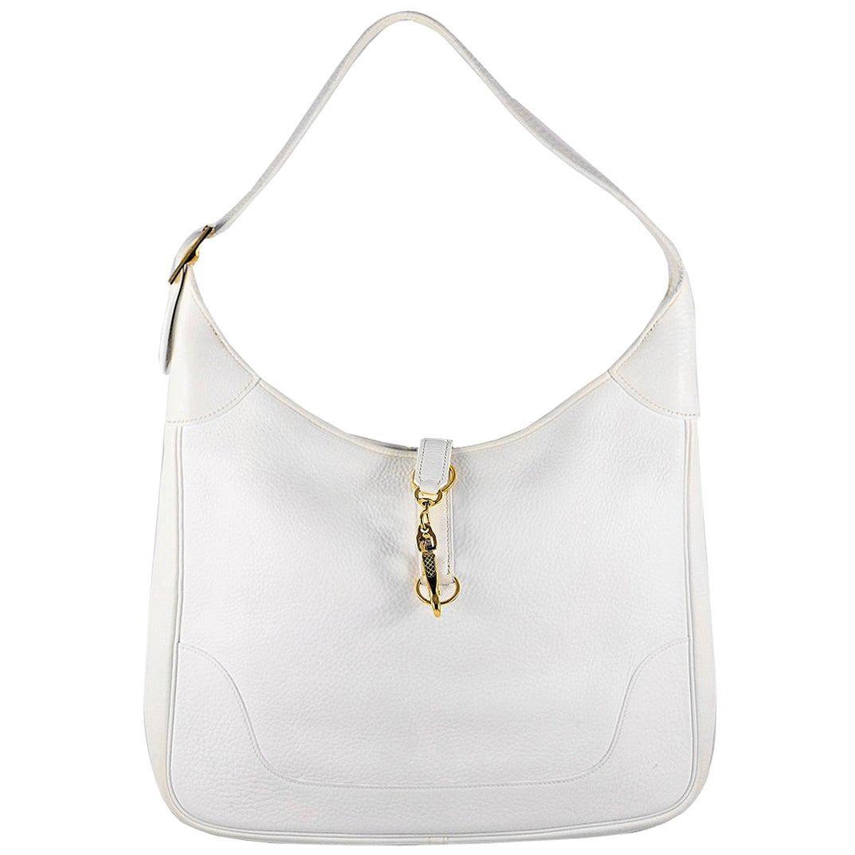 HERMES White Trim Bag