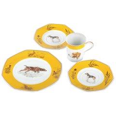 Hermes White & Yellow Tea Set