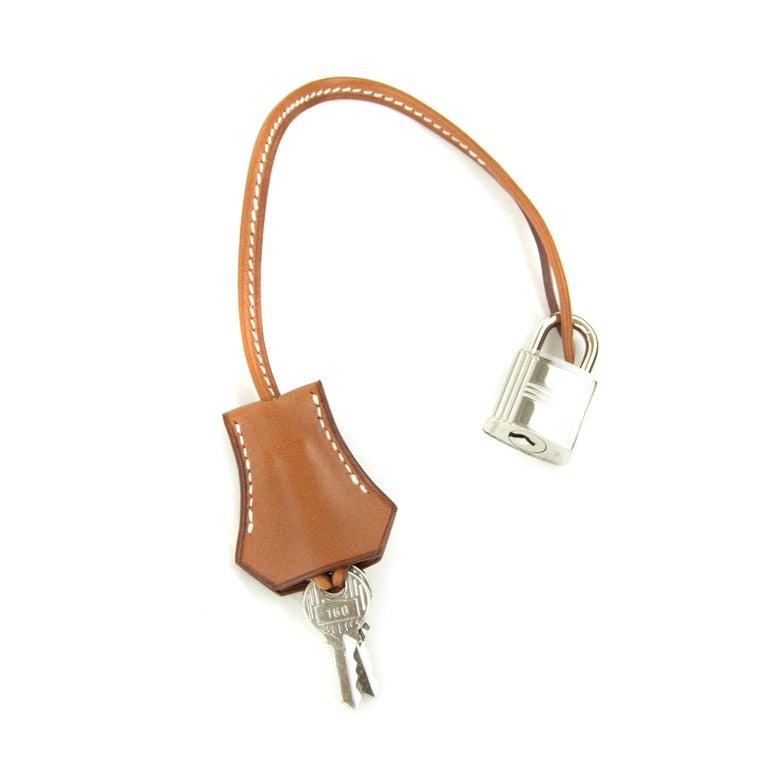 Hermes Wicker Barenia Picnic Kelly Bag 35cm PHW For Sale 5