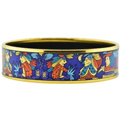 Hermès Wide Enamel Bangle Bracelet