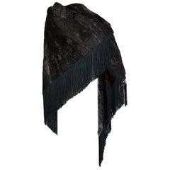 HERMES wild Russian breshvans fur shawl, silk lined, collectible - Unworn, New