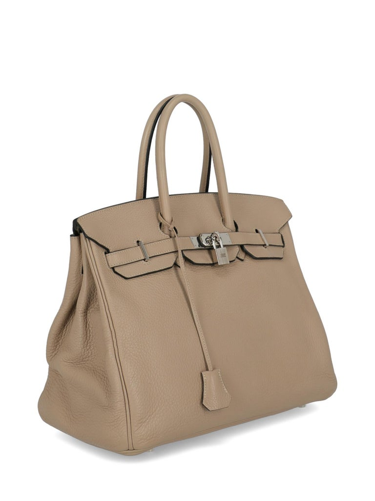 Hermes Woman Birkin 35 Grey  In Excellent Condition For Sale In Milan, IT