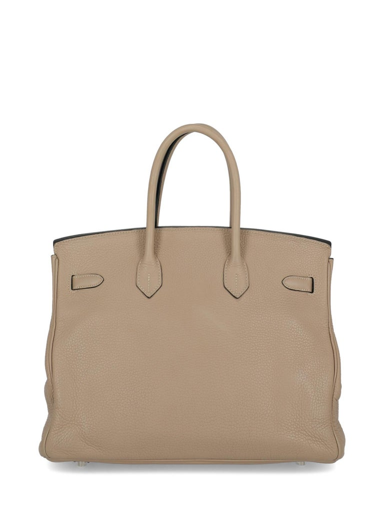 Women's Hermes Woman Birkin 35 Grey  For Sale