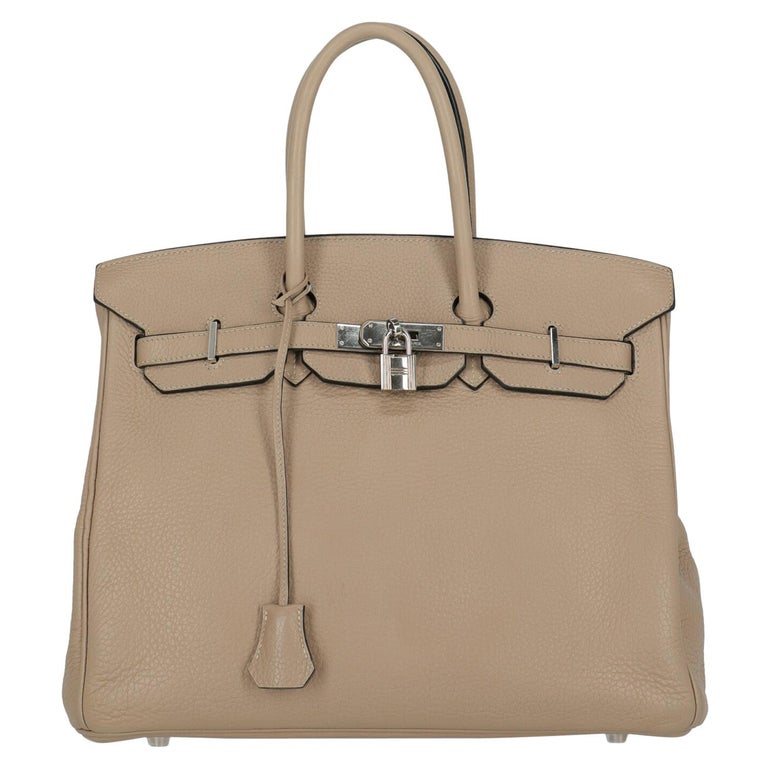 Hermes Woman Birkin 35 Grey  For Sale