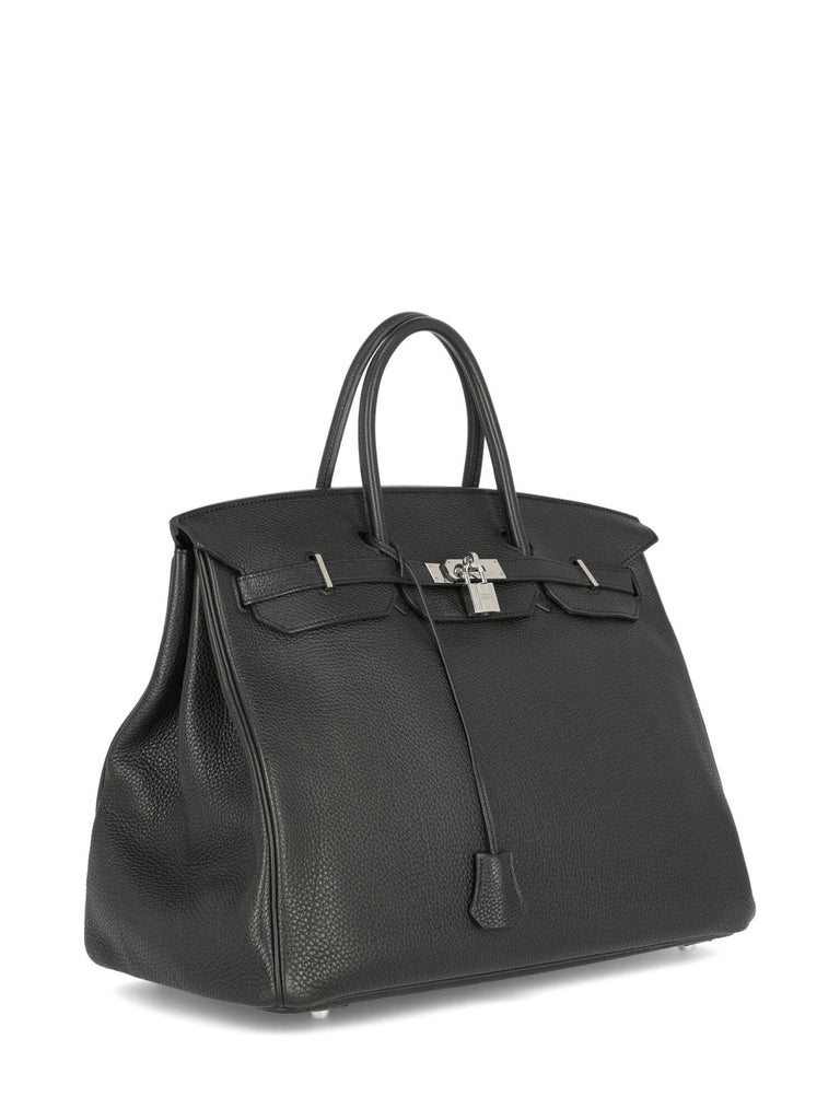 Hermes Woman Birkin 40 Black  In Good Condition For Sale In Milan, IT