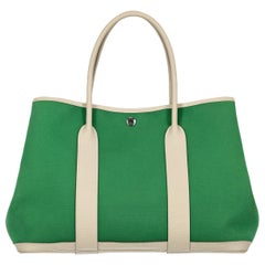 Hermes Woman Garden Party Green, White