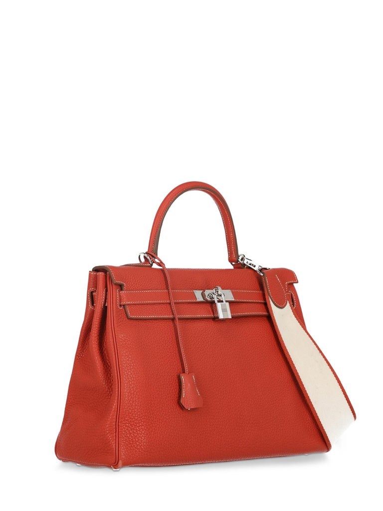 Hermes Woman Kelly 35 Red  In Good Condition For Sale In Milan, IT