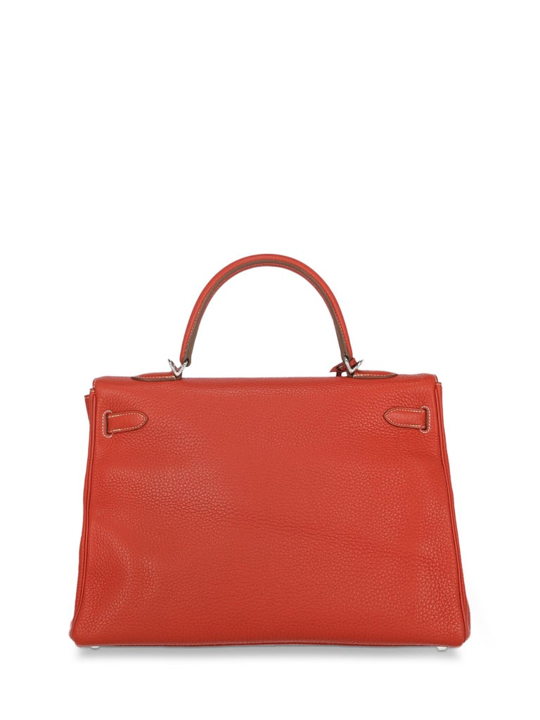 Women's Hermes Woman Kelly 35 Red  For Sale