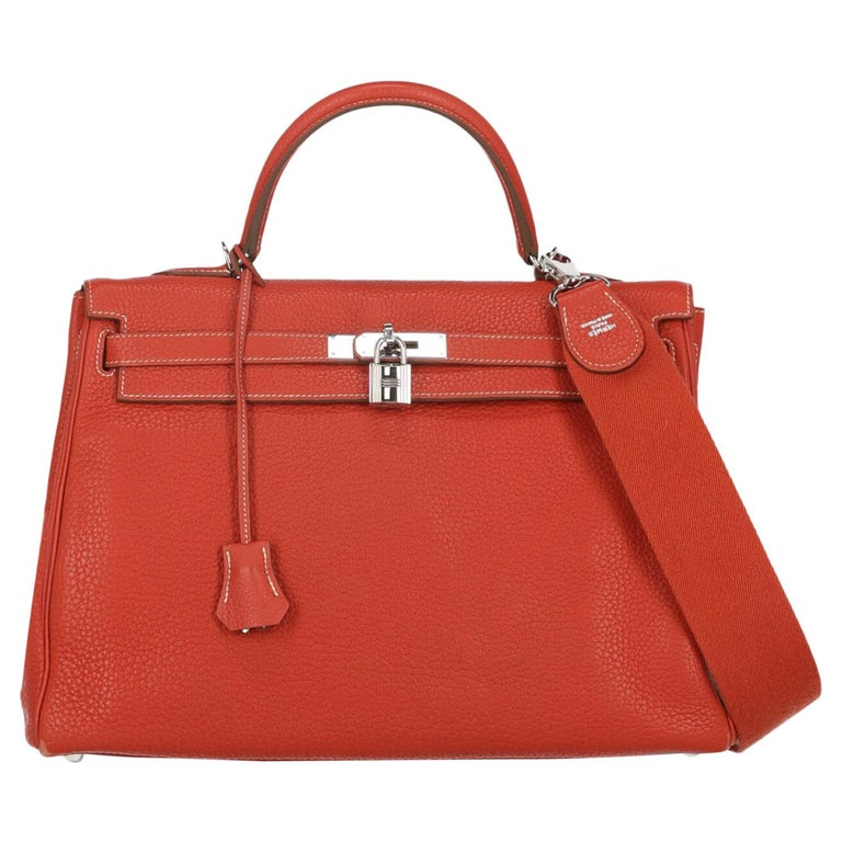 Hermes Woman Kelly 35 Red  For Sale