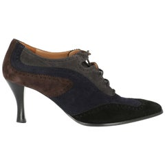 Hermes Woman Lace-up Black, Navy IT 37.5