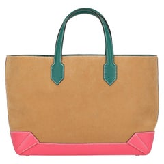 Hermes Woman Maxibox Cabas Camel Color, Green, Pink