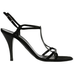Hermes Woman Sandals Anthracite, Black IT 37