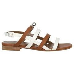 Hermès Woman Sandals Brown Leather IT 36.5