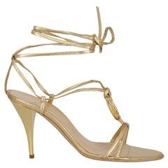 Hermès Woman Sandals Gold Leather IT 38.5
