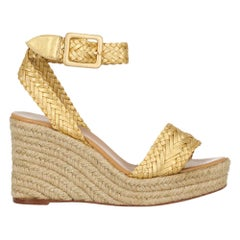 Hermès Woman Wedges Gold Leather IT 38