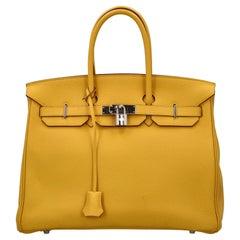 Hermès Women Handbags  Birkin 35 Yellow Leather