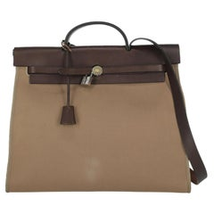 Hermes Women  Handbags  Herbag Beige Fabric